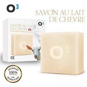 O³ Savon Lait de Chevre-Savon Exfolliant fait main-Combat l'acné, soulage l'eczéma-120gr de savon artisanal de la marque O³ image 0 produit