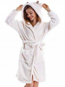 OCHENTA Unisexe Femme Peignoirs de Bain Animal Cosplay Mi-Long avec Capuche Robe de Chambre Nuit Pyjama de la marque OCHENTA image 0 produit