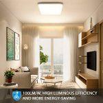 Oeegoo 15W imperméable à l'eau LED Plafonnier moderne carré LED Lampe de plafond 1300lm Blanc Naturel 4000K Applicable à la salle de bain la chambre la cuisine le salon le balcon et le couloir. de la marque Oeegoo image 1 produit