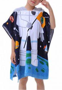 OKSakady Serviette de Bain à Capuchon de Plage Fille Garçon, Serviette de Bain à Capuchon de Coton Enfant Absorbante (Astronaute) de la marque OKSakady image 0 produit
