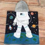 OKSakady Serviette de Bain à Capuchon de Plage Fille Garçon, Serviette de Bain à Capuchon de Coton Enfant Absorbante (Astronaute) de la marque OKSakady image 2 produit