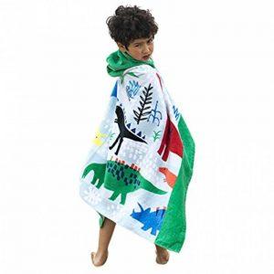 OKSakady Serviette de Bain à Capuchon de Plage Fille Garçon, Serviette de Bain à Capuchon de Coton Enfant Absorbante de la marque OKSakady image 0 produit