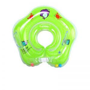 OLDK Flotteur de bébé de Cou de Cercle de bébé de Natation Gonflable pour Les Nouveau-nés baignant des Roues de Cercle pour Le Flotteur de Cou de sécurité de Cercle de baignade de Nouveau-nés, Vert de la marque OLDK image 0 produit