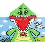 """Orsit Serviette de Bain avec Capuchon de Plage pour Enfants de 2 à 8 Ans - Cape de Poncho avec recouvrement de Piscine - Usage Multiple pour Le Bain/la Douche/la Piscine 24""""x 48""""(Crocodile) de la marque Orsit image 3 produit"""