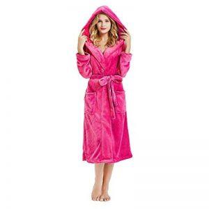 OSYARD Peignoir Femme Bain Coton Eponge, Robe de Chambre pour Femme Vêtements de Nuit Coton Hiver avec Capuche Lacets Ensembles de Pyjama S-5XL de la marque OSYARD image 0 produit