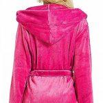 OSYARD Peignoir Femme Bain Coton Eponge, Robe de Chambre pour Femme Vêtements de Nuit Coton Hiver avec Capuche Lacets Ensembles de Pyjama S-5XL de la marque OSYARD image 3 produit
