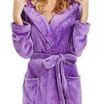 OSYARD Peignoir Femme Bain Coton Eponge, Robe de Chambre pour Femme Vêtements de Nuit Coton Hiver avec Capuche Lacets Ensembles de Pyjama S-5XL de la marque OSYARD image 2 produit