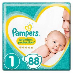 Pampers Premium Protection couches New Baby Taille 1 (2-5 kg), Lot de 2 (2 x 44 pièces) de la marque Pampers image 0 produit