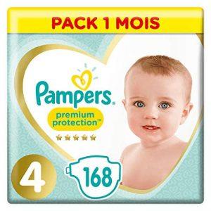 Pampers Premium Protection Taille4, 168Couches, 9-14kg Pack 1 Mois de la marque Pampers image 0 produit