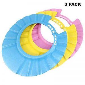 Paquet de 3 shampoing douche bain bébé bonnet de protection doux visière réglable souple douce bonnet pour nourrisson, bébé, enfants de la marque make it funwan image 0 produit
