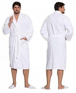 Peignoir avec col châle, Beaucoup de Tailles, Blanc, Pur Coton,020 de la marque ZOLLNER image 0 produit