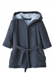 Peignoir bébé en Gaze de Coton Bleu Nuit 12M - 74CM de la marque Vertbaudet image 0 produit