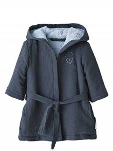 Peignoir bébé en Gaze de Coton Bleu Nuit 18M - 81CM de la marque Vertbaudet image 0 produit