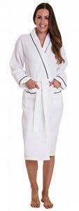 Peignoir Blanc en Coton gaufré pour Femme de la marque Florentina image 0 produit