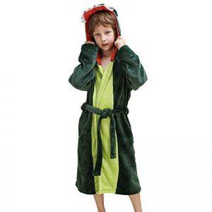 Peignoir à capuche en peluche pour fille - Dinosaur Polaire Robe de bain peignoir de la marque DREAMOWL image 0 produit