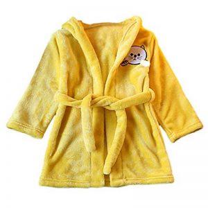 Peignoir à Capuche pour Bébé Fille ou garçon 1-5 Ans, Pyjamas Enfants Animaux Chat Hooded Doux Chemise de Nuit Robes de Chambres Kimonos Vêtements de Nuit BaZhaHei de la marque BaZhaHei+vtements+de+nuit image 0 produit