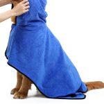 Peignoir à Capuche pour Chien Chat Microfibre Serviette de Bain Spongieux pour Animaux de Compagnie Pyjama Chiot Chaton (XL( Longueur 75cm), Bleu) de la marque Boodtag image 1 produit