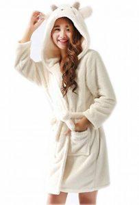 Peignoir à Capuche pour Enfants Manches Longues Flanelle Chaud Robe de Chambre Animal Motif de la marque Runyue image 0 produit