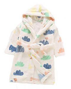 Peignoir à Capuche pour Enfants Unisexe Automne et Hiver Doux Flanelle Robe de Nuit Robes de Bain 3-8 Ans de la marque Runyue image 0 produit