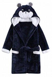Peignoir à Capuchon épais pour Filles pour garçon, Pyjama Lapin et Ours (Taille 2, Enfant de Moins DE 14 Ans) de la marque ABClothing image 0 produit