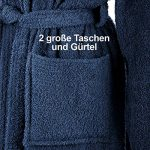 Peignoir de Bain avec Capuche en 100% Coton avec Sceau Oeko-Tex en Plusieurs Couleurs et Tailles/Super Absorbant pour Femmes et Hommes de la marque Grfenstayn image 2 produit