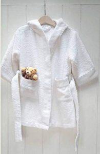 Peignoir de bain BABY pour enfant bébé brodé et personnalisé prénom, 1an ou 2ans, cadeau naissance, cadeau personnalisé, anniversaire baptème de la marque N/D image 0 produit