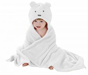 Peignoir de bain à Capuche Animaux/Serviette de bain avec Chapeau Bébé 100*100/Serviette Drap de Bain Bebe Panda (0-2 ans) de la marque Luojida image 0 produit