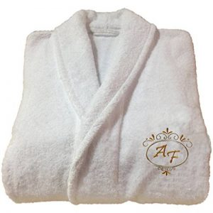 Peignoir de bain d'hôtel à broderie personnalisable,réf. Deluxe, 100 % coton, blanc, XL de la marque BgEurope image 0 produit