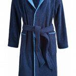 Peignoir de bain Egeria Cairo unisexe avec capuche pour homme et femme, Coton, 385/326 Dark Blue/Atlantic Blue, m de la marque Egeria image 1 produit