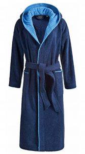 Peignoir de bain Egeria Cairo unisexe avec capuche pour homme et femme, Coton, bleu marine, L de la marque Egeria image 0 produit