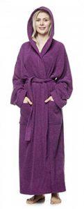 Peignoir de Bain en éponge à Capuche Extra-Long pour Femme/Homme 100% Coton Tissu Bouclette Doux et léger Robe de Chambre de la marque Arus image 0 produit