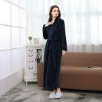 Peignoir de Bain en éponge Extra-Long pour Femme 100% Coton Tissu Bouclette Doux et léger Robe de Chambre de la marque DSNOW image 3 produit