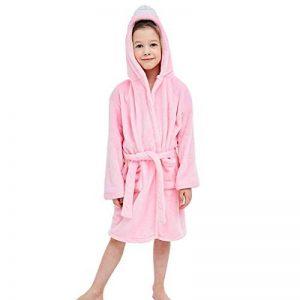 Peignoir de Bain Enfant, Flanelle Douce Serviette a Capuche Enfant pour Les de 2-6 Ans de la marque MICHLEY image 0 produit