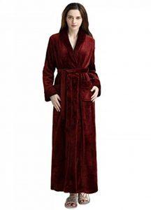 Peignoir de Bain Femme Peignoir en Eponge Microfibre, Femme Robe de Chambre Longue Hiver Chaud de la marque PUTUO image 0 produit