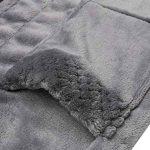 Peignoir de Bain Femme Robe de Chambre en Polaire Flanelle Capuchon Col V Manches Longues S-XXL de la marque MAXMODA image 4 produit