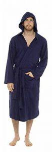 Peignoir De Bain Homme, Linge De Bain, Robe De Chambre Homme, Peignoir De Nuit, Peignoir Homme Kimono Tissage Gaufré 100% Coton de la marque CityComfort image 0 produit