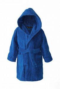 Peignoir de bain personnalisé à capuche pour enfant en tissu éponge – Bleu foncé de la marque Harlequin-Designs image 0 produit