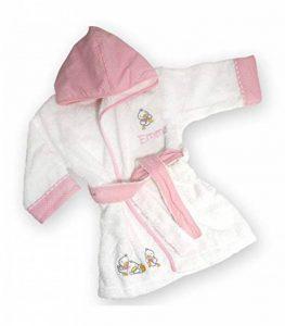 Peignoir de bain PETITS CANARDS ROSE personnalisé et brodé avec le prénom de bébé, 1an et 2ans, cadeau de naissance, cadeau bapteme, garçon fille, cadeau personnalisé bébé de la marque N/D image 0 produit