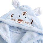 Peignoir de Bain pour Enfant Bébé Garçon/Fille à Capuche, Hiver Mignon Animal Doux Chaud Polaire Robe de Chambre/Pyjamas 1-7 Ans de la marque Miyanuby image 1 produit