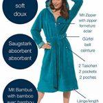 Peignoir de Bain pour Femme avec Fermeture éclair, Ceinture et Capuche, Tailles S à XL Disponibles de la marque Morgenstern image 1 produit