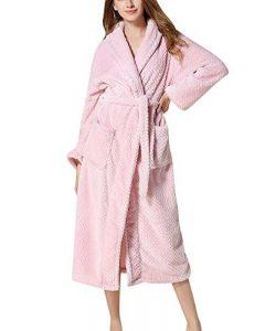 Peignoir de Bain pour Femme/Homme Longueur Robe Pyjama Chaud Microfibre Luxe Bathrobe de la marque Quge image 0 produit
