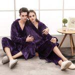 Peignoir De Luxe Robe Longue Section Femme Fluff ÉPaissir Solid Couleur Unie Pyjamas Deux Poches Ceinture Salle De Bain Bathrobe 5 Couleurs 3 Tailles de la marque Yvelands image 2 produit
