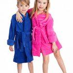 Peignoir De Nuit a Capuche pour Enfants Garcons Filles (Taille 92-164 Ans) de la marque elowel image 1 produit
