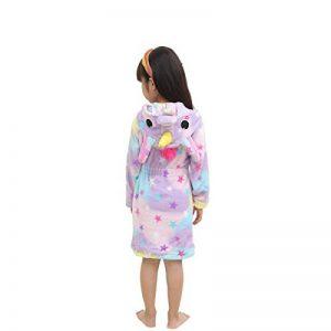 Peignoir Doux Enfant Confortable Licorne Robe en Flanelle Unisexe Encapuchonné Cadeau Vêtements De Nuit Quatre Saisons de la marque LANTOP image 0 produit