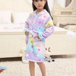 Peignoir Doux Enfant Confortable Licorne Robe en Flanelle Unisexe Encapuchonné Cadeau Vêtements De Nuit Quatre Saisons de la marque LANTOP image 3 produit