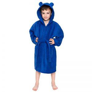 ⭐Peignoir Enfant Garçon et Fille, 100% Coton, Certifié sans Produits Chimiques - Robe de Chambre, Sortie de Bain, Absorbant de la marque Twinzen image 0 produit
