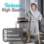 ⭐Peignoir Enfant Garçon et Fille, 100% Coton, Certifié sans Produits Chimiques - Robe de Chambre, Sortie de Bain, Absorbant de la marque Twinzen image 1 produit