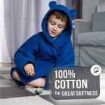 ⭐Peignoir Enfant Garçon et Fille, 100% Coton, Certifié sans Produits Chimiques - Robe de Chambre, Sortie de Bain, Absorbant de la marque Twinzen image 3 produit