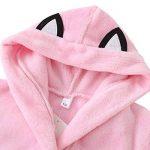 Peignoir Enfant Garçon/Fille Mignon Doux Chaud Toison Peignoir en Coton Capuche Pyjamas pour 3-8 Ans de la marque Miyanuby image 2 produit