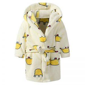 Peignoir Enfant Unisexe Hooded Serviette de Bain Manches Longues Mignon Impression Dentelle Pyjamas de la marque KUKICAT image 0 produit